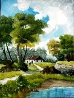 اجمل اللوحات الفنية الطبيعية لوحات فنية زيتية للطبيعة رائعة الجمال لوحات فنية زيتية لمناظر طبيعية بسيطة جميلة جدا اجمل اللوحات الفنية Art Comic Books Painting