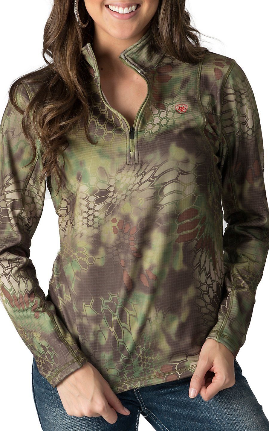 Under Armour Little Girl`s Realtree Camo 1//4-Zip Pullover