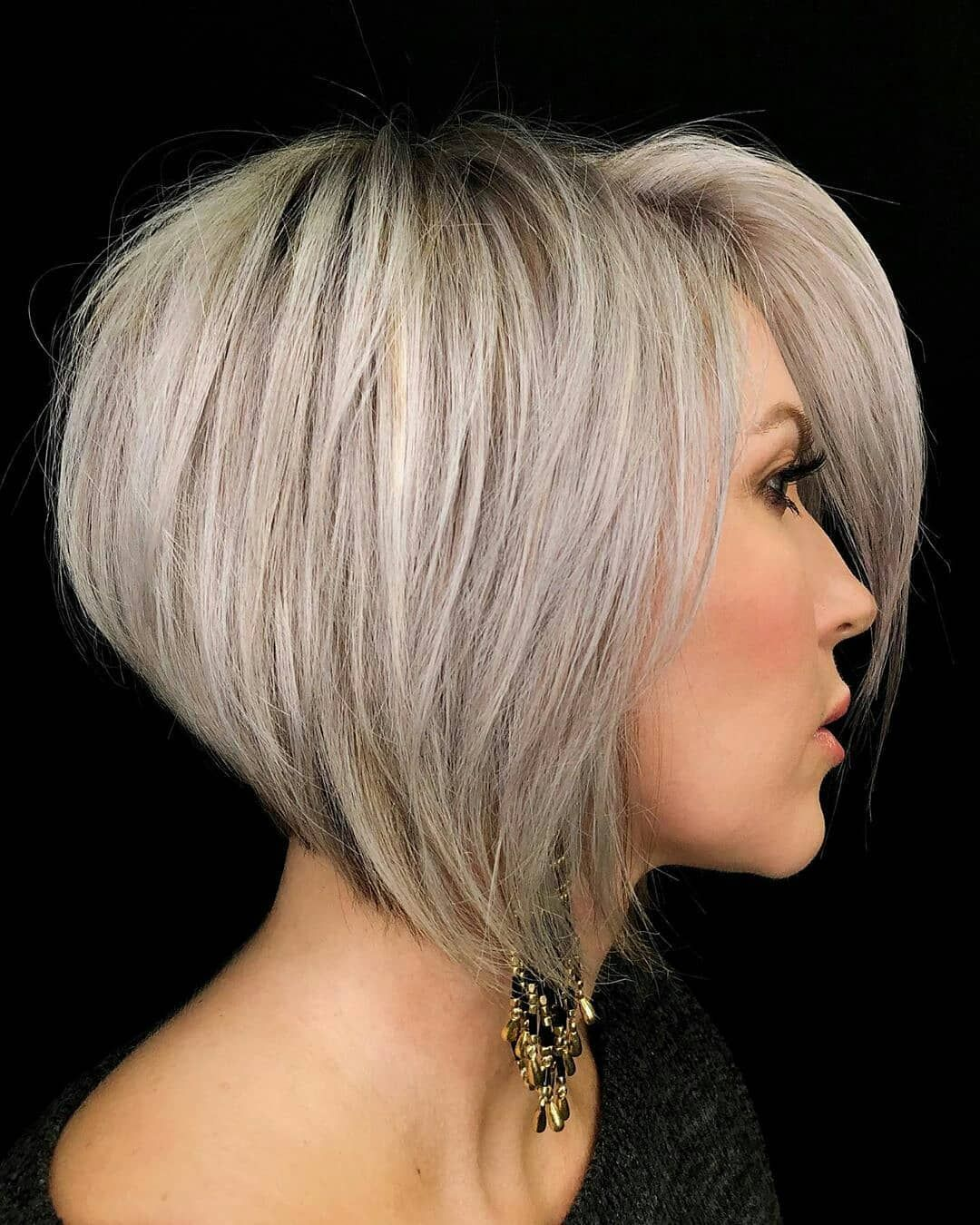 Easy Short Bob Haircut with Straight Hair - Women