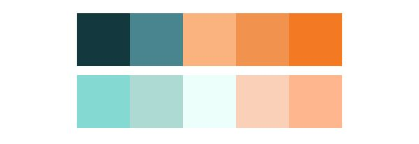 Using The Psychology Of Color In Web Design Calm Color Palette