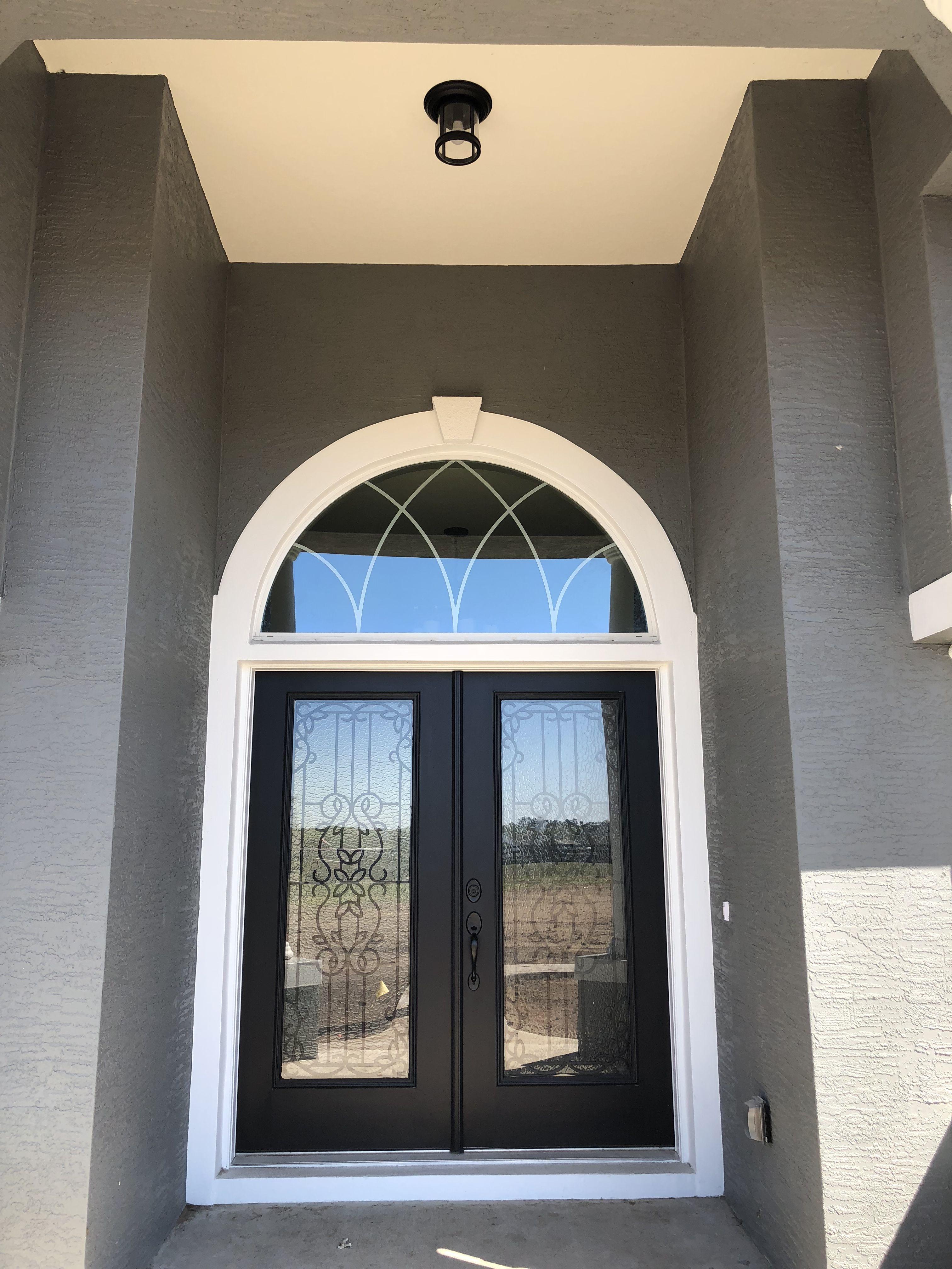 Black exterior front door front door country farmhouse