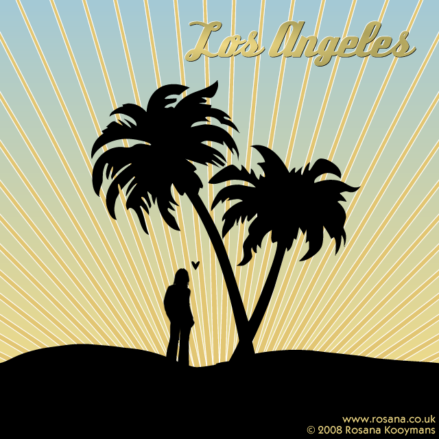 Artwork I made a couple of years ago. #losangeles #sunset #palm #heart #ray #sun