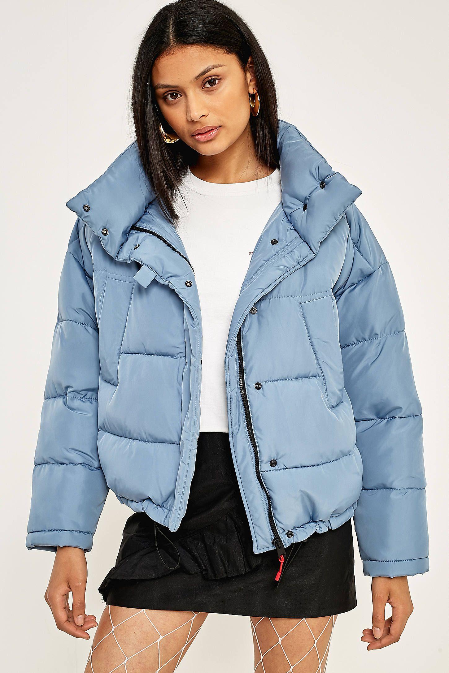 4b5798139 Shop Light Before Dark Blue Pillow Puffer Jacket at Urban Outfitters ...