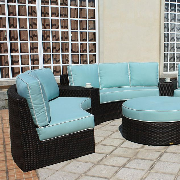 patio renaissance s del mar sectional features a curved seating rh pinterest com