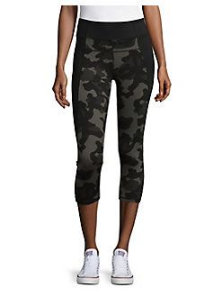 a6de349fbef3b Calvin Klein Performance - Camouflage Cropped Active Capris | Lord ...