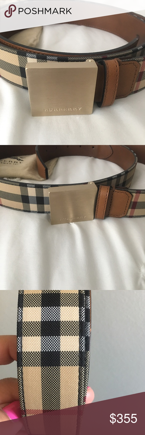 faae6035cc61 New authentic Burberry men s belt New Burberry men s belt comes with the  duffle bag Burberry Accessories Belts