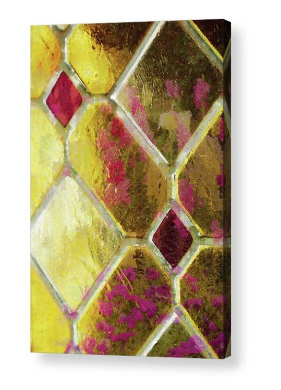 Stained Glass, Stained Glass Canvas, Metal Photograph, Yellow Wall ...