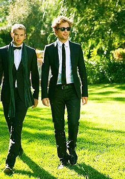 Rob & Kellan. Lord they sure as hell look good in suits