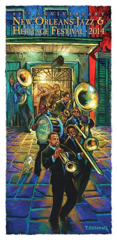 Preservation Hall honored on Jazz Fest 2014 poster
