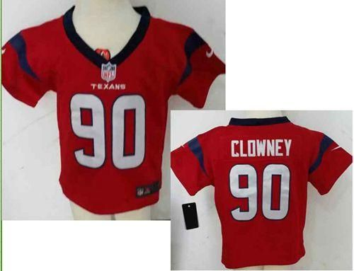 Wholesale Toddler Nike Texans #90 Jadeveon Clowney Red Alternate Stitched NFL  free shipping