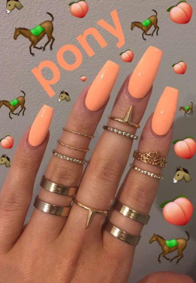 Pinterest Jasdoll Money Grabbers Orange Nails Peach