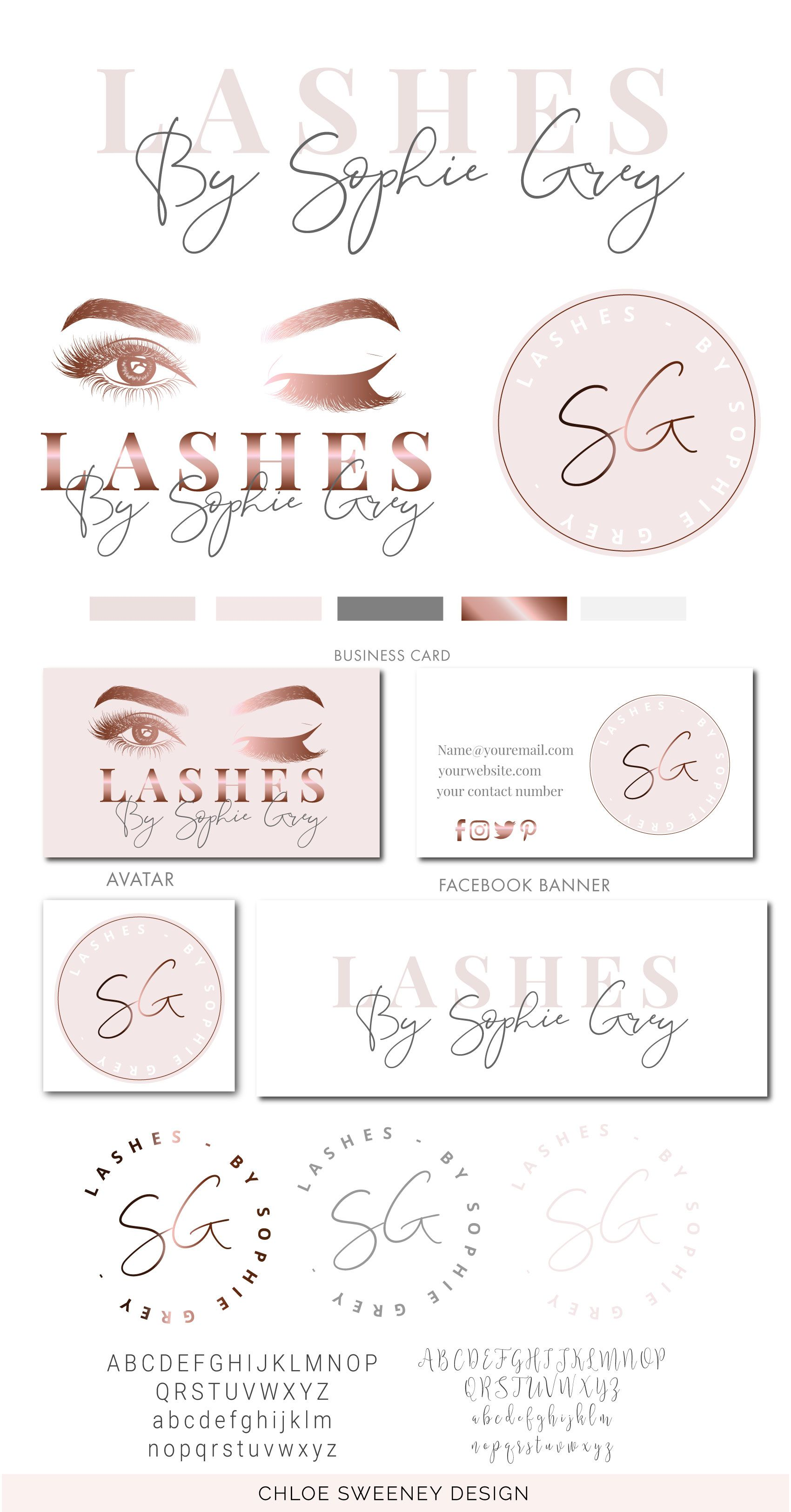 LASH LOGO DESIGN, Eyelash Logo, Holographic Lash Logo