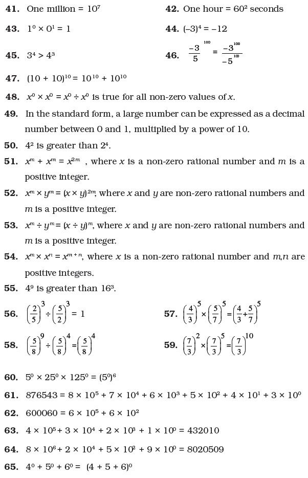 Class 7 Important Questions for Maths – Exponents and Powers ...