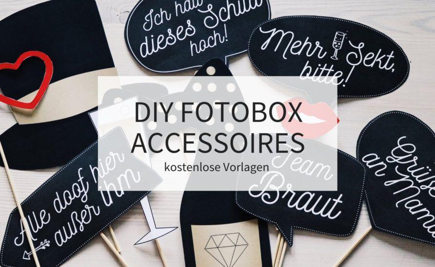 Diy Fotobox Accessoires Kostenlose Vorlagen Zum Downloaden Fotobox Hochzeit Hochzeit Requisiten Fotobox