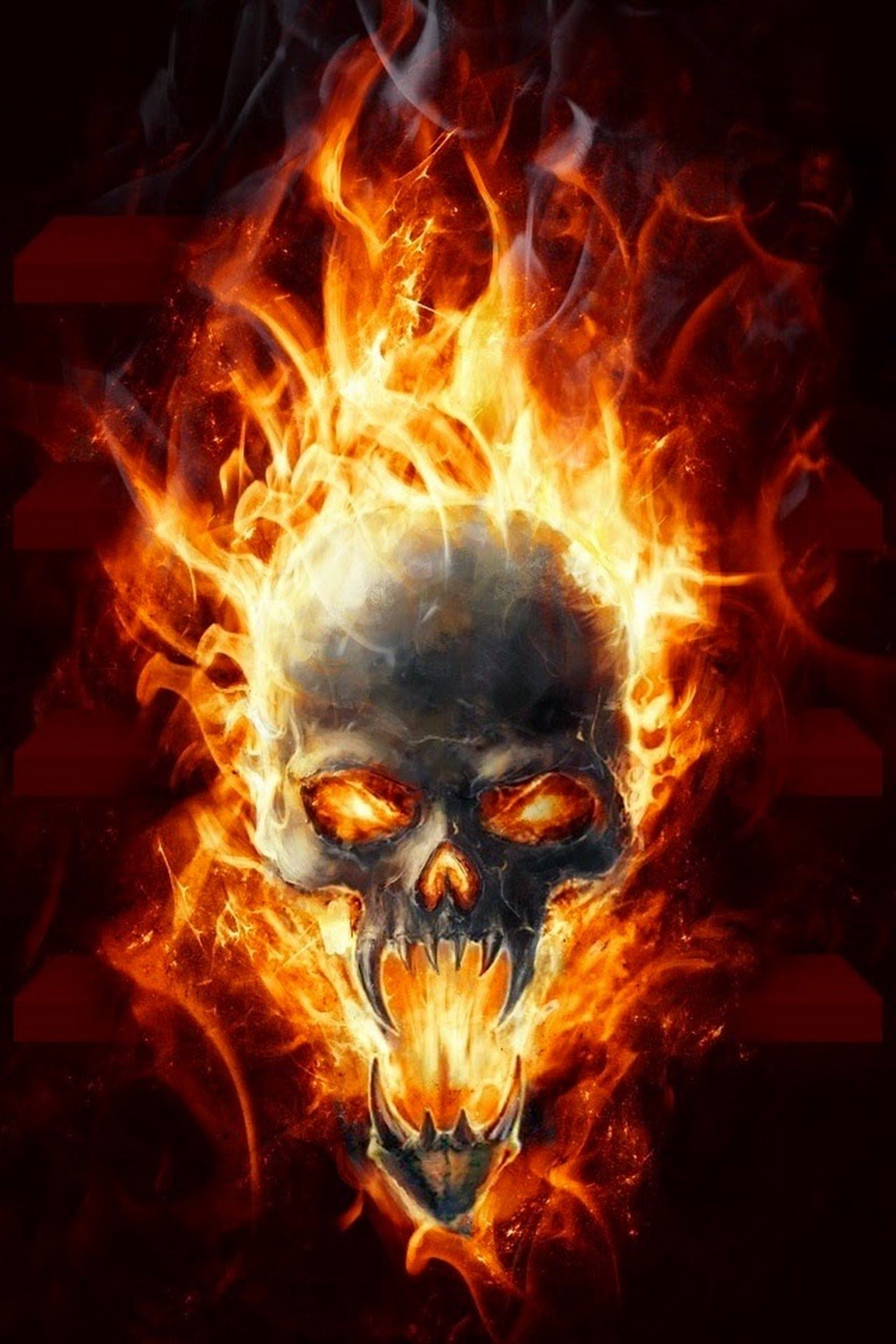 Ghost Rider - Mcd Google Skulls Dark Art And Drawings