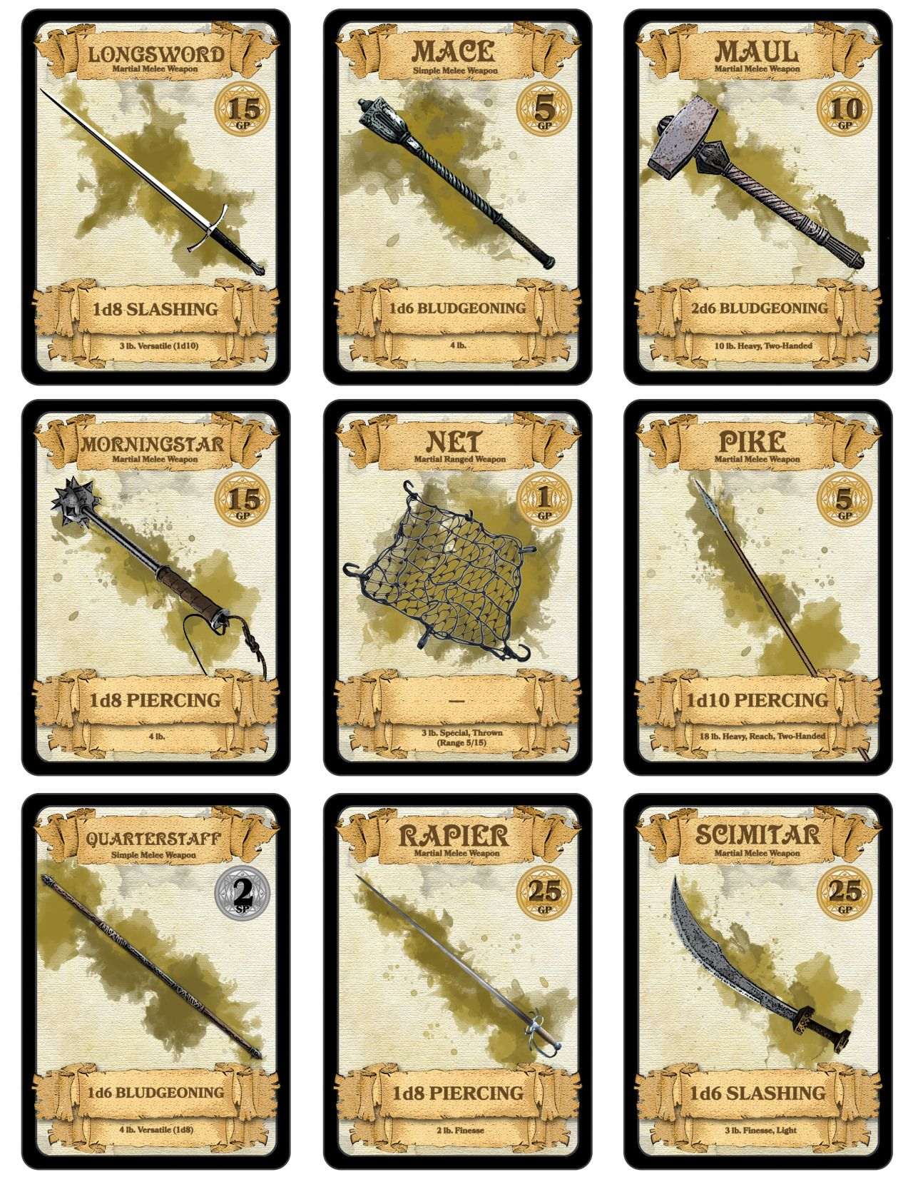 Over 300 downloadable printable dd cards i made over