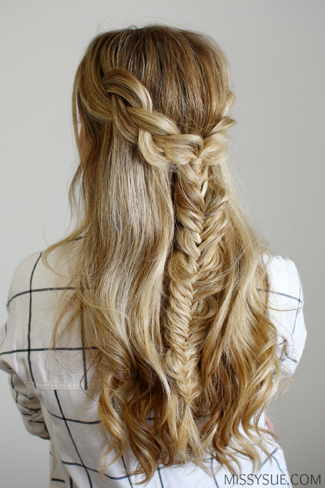 Half Up Braids and Fishtail (my soul is the sky) Braided hairstyles for wedding Braided