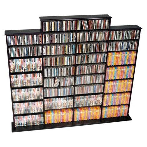 Grant Media Storage Rack Black Prepac Target