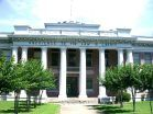 """""""Liberty s obedience to authority"""" saying on an old Mississippi county courthouse building in the Delta."""