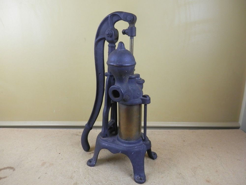 Antique Cast Iron Brass Water Pump Barnes Mfg Co Mansfield Be 2 Be 7 89 Vintage Barnesmfgco Antique Cast Iron Well Pump Water Well Hand Pump