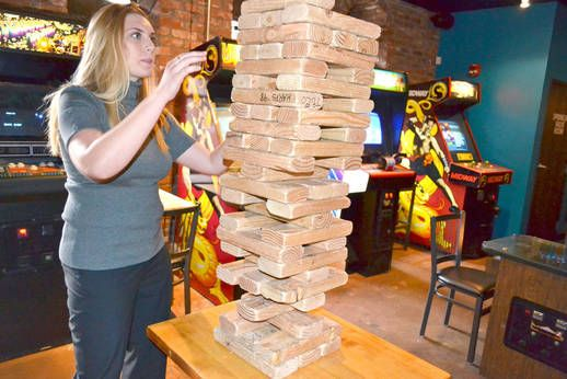Giant Jenga at the 1Up | Bars, clubs, Chicago ...
