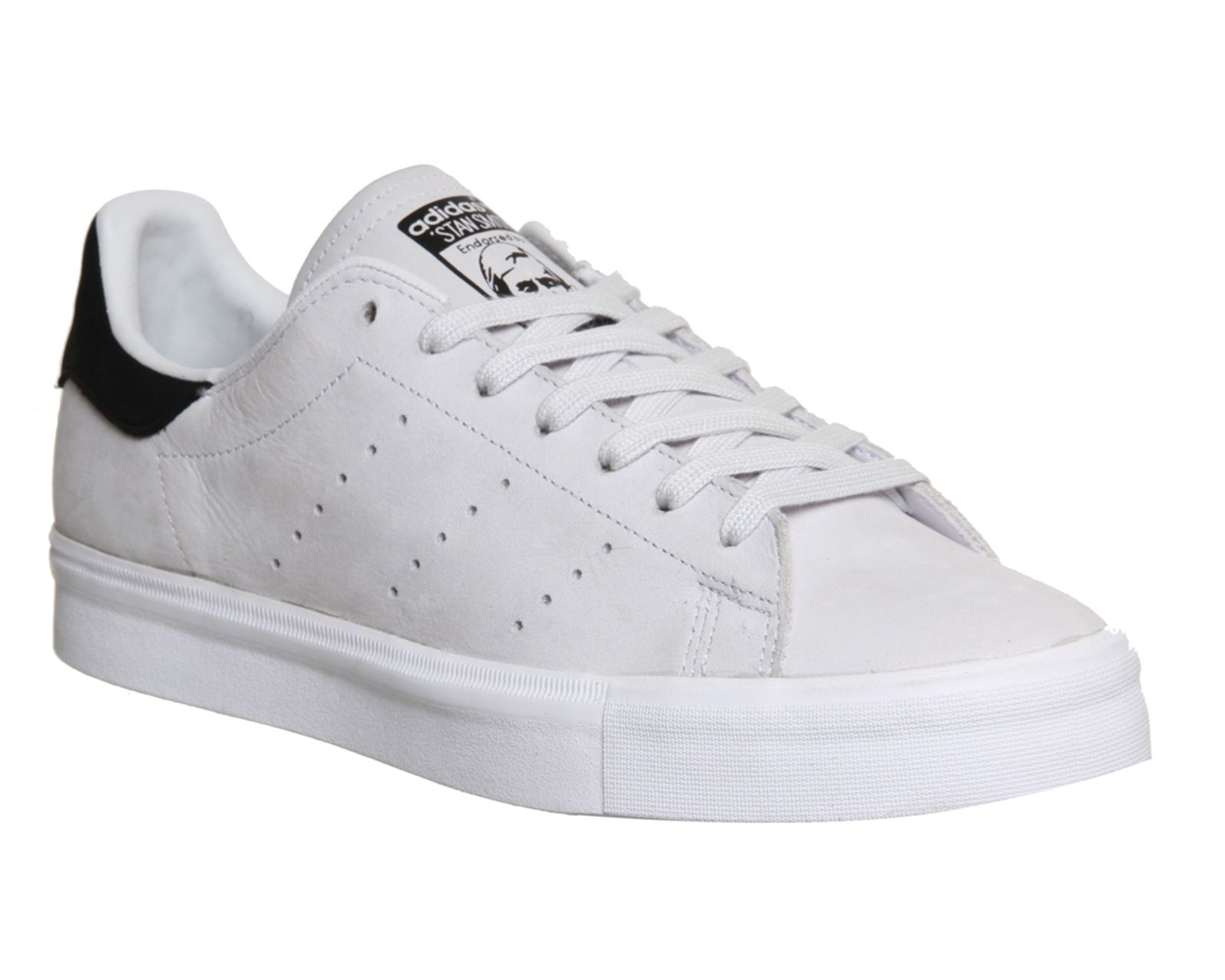 buymadesimple.com: Adidas Mens Stan Smith Vulc White Black Nubuck Trainers  Shoes, White
