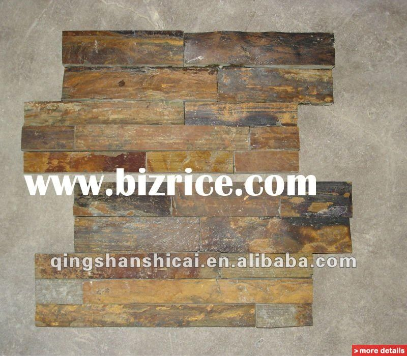 Exceptionnel Rustic Interior Wall Covering | Face Brick Rustic Copper Panels Interior  Wall Cladding Slate Panels .