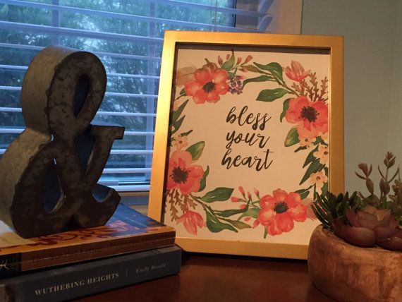 Bless Your Heart Print Southern Wall Art Digital by MagpiePrintCo