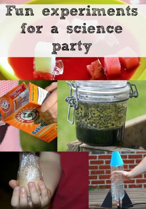 Great experiments for a science party science party explore and lots of great ideas for a super fun science party make volcanoes bottle rockets and much much more forumfinder Images