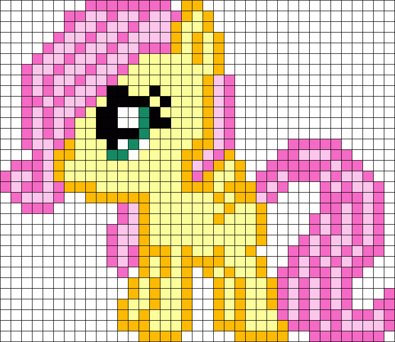 Filly Fluttershy My Little Pony Perler Bead Pattern / Bead Sprite ...