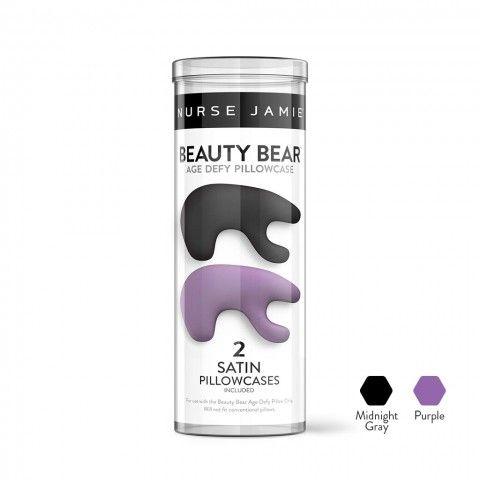 Beauty Bear™ Pillowcase - Double Pack Midnight Gray & Purple | Beauty Tools - Nurse Jamie Healthy Skin Solutions