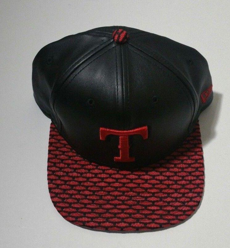 official photos 12218 7991c Texas Rangers New Era 9Fifty Black Black Knit Red Brim Polyamide Snapback  Cap  NewEra  TexasTechRedRaiders