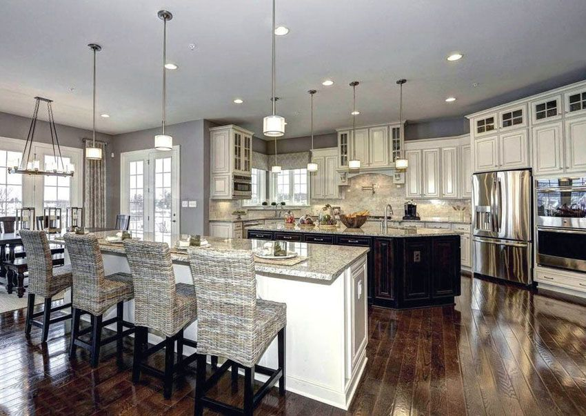 Traditional Kitchen Designs. 27 Amazing Double Island Kitchens  Design Ideas White granite
