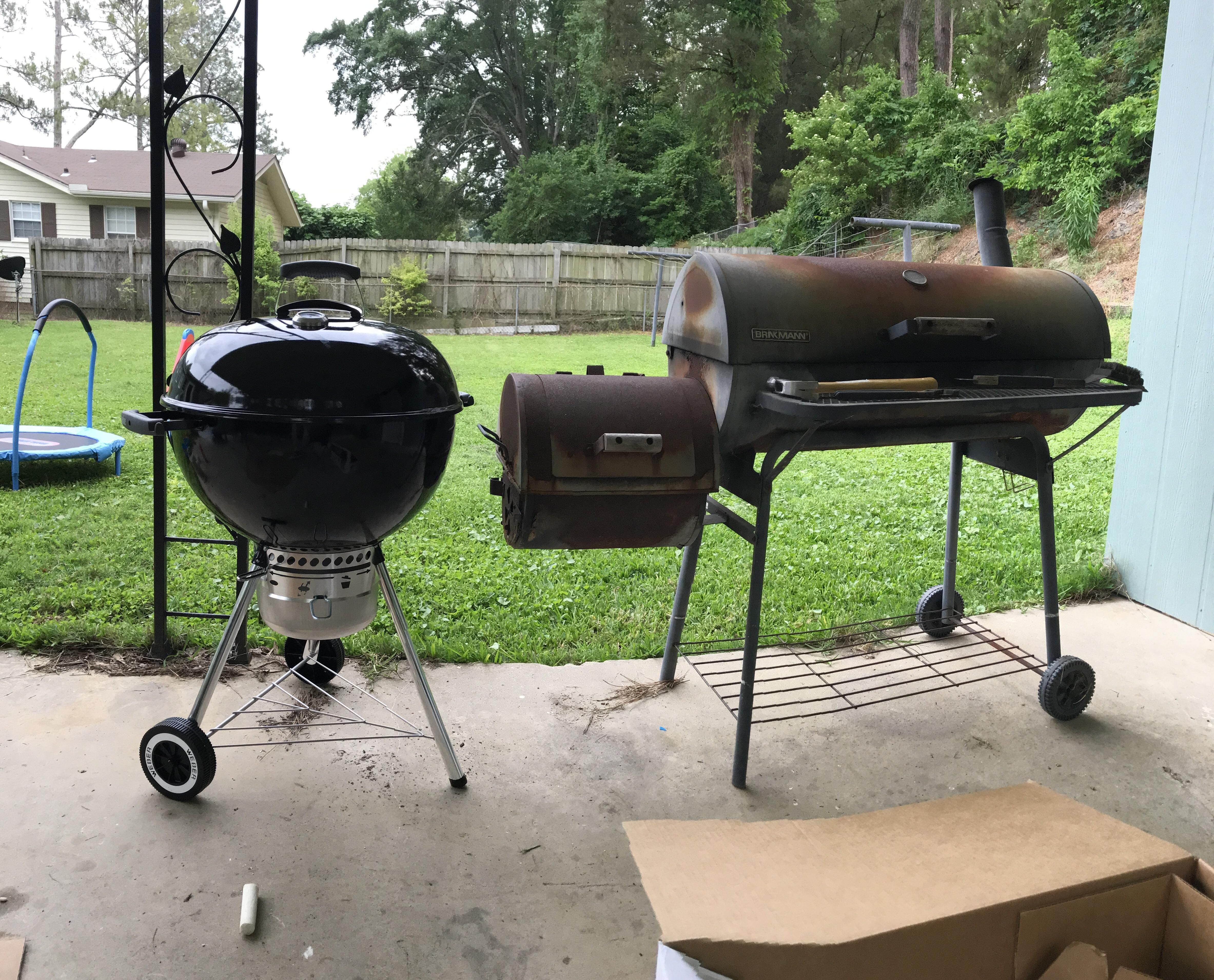 Upgraded my grill the old rusty smoker will now only be a smoker
