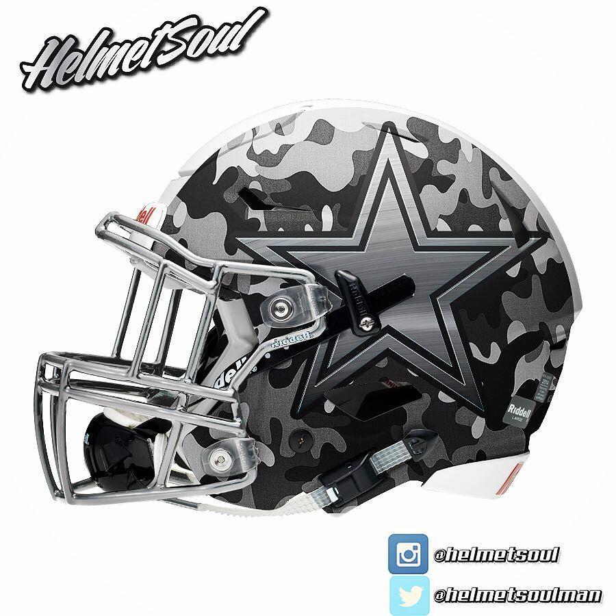Matte b w camo for this new dallascowboys concept - Dallas cowboys concept helmet ...