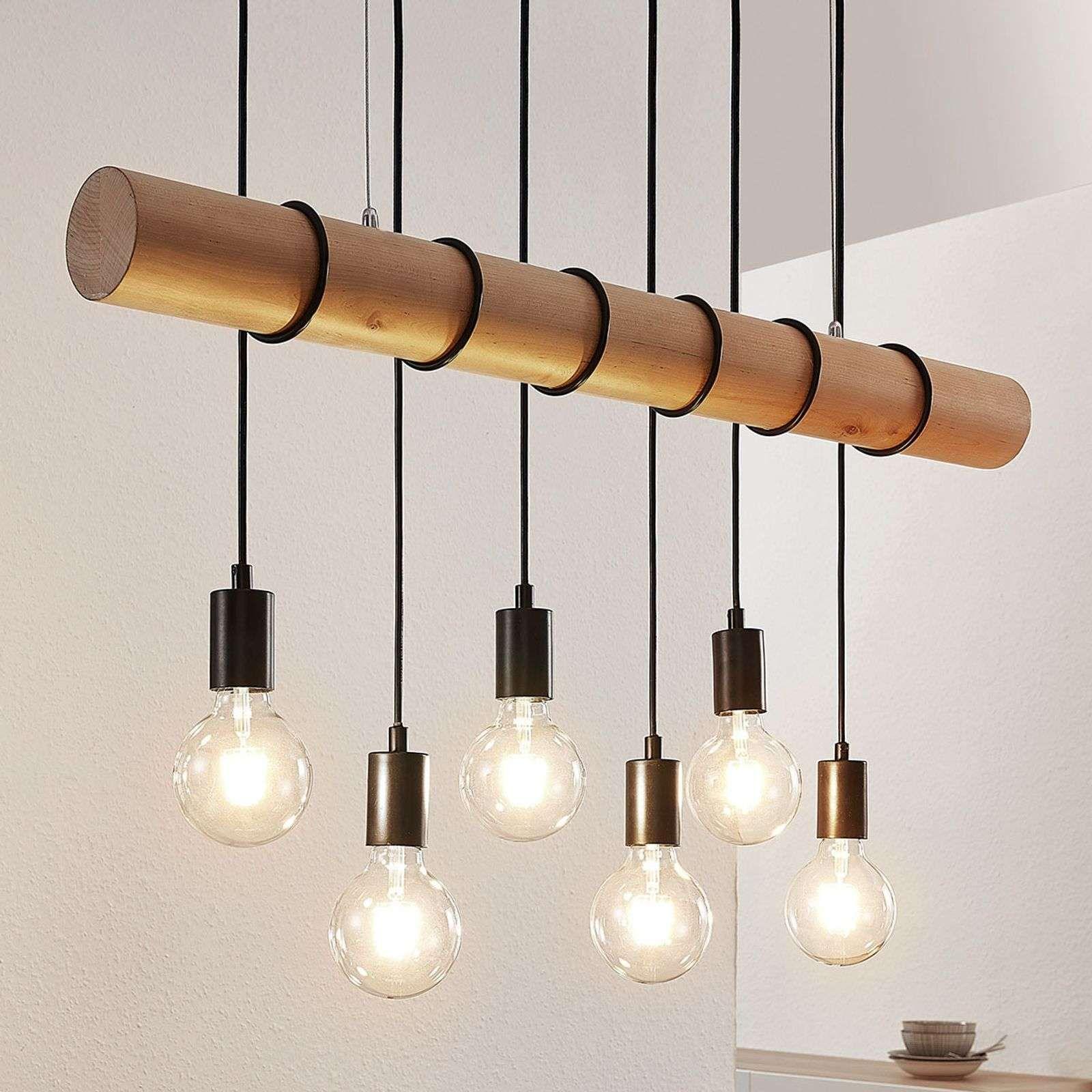 Suspension Eviton En Bois A 6 Lampes Naturel In 2020 Holzpendelleuchte Dekorative Lampen Pendelleuchte Kuche