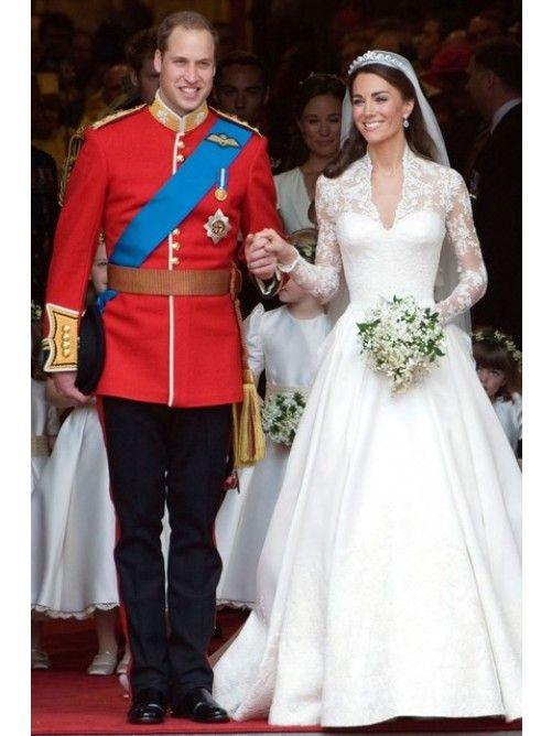 Bem Vestidos princesa Decote V Renda Cetim Vestido de noiva