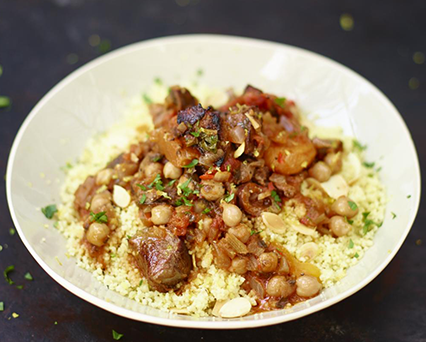 Jamie Oliver S Moroccan Lamb Tagine With Apricot Almond Couscous