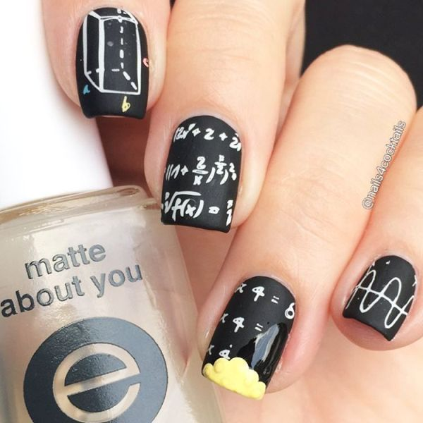 37 Super Cute Back To School Nail Art Designs | School nail art ...