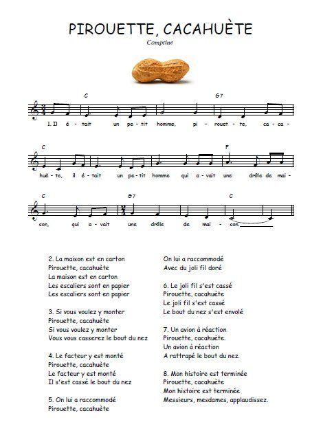 chanson pirouette cacahuete gratuit