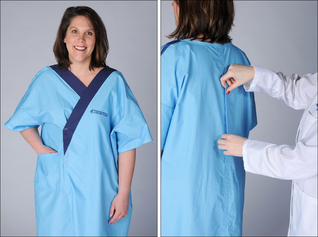 Hospital introduces new gown design: It has a back! | HEALTH + ...