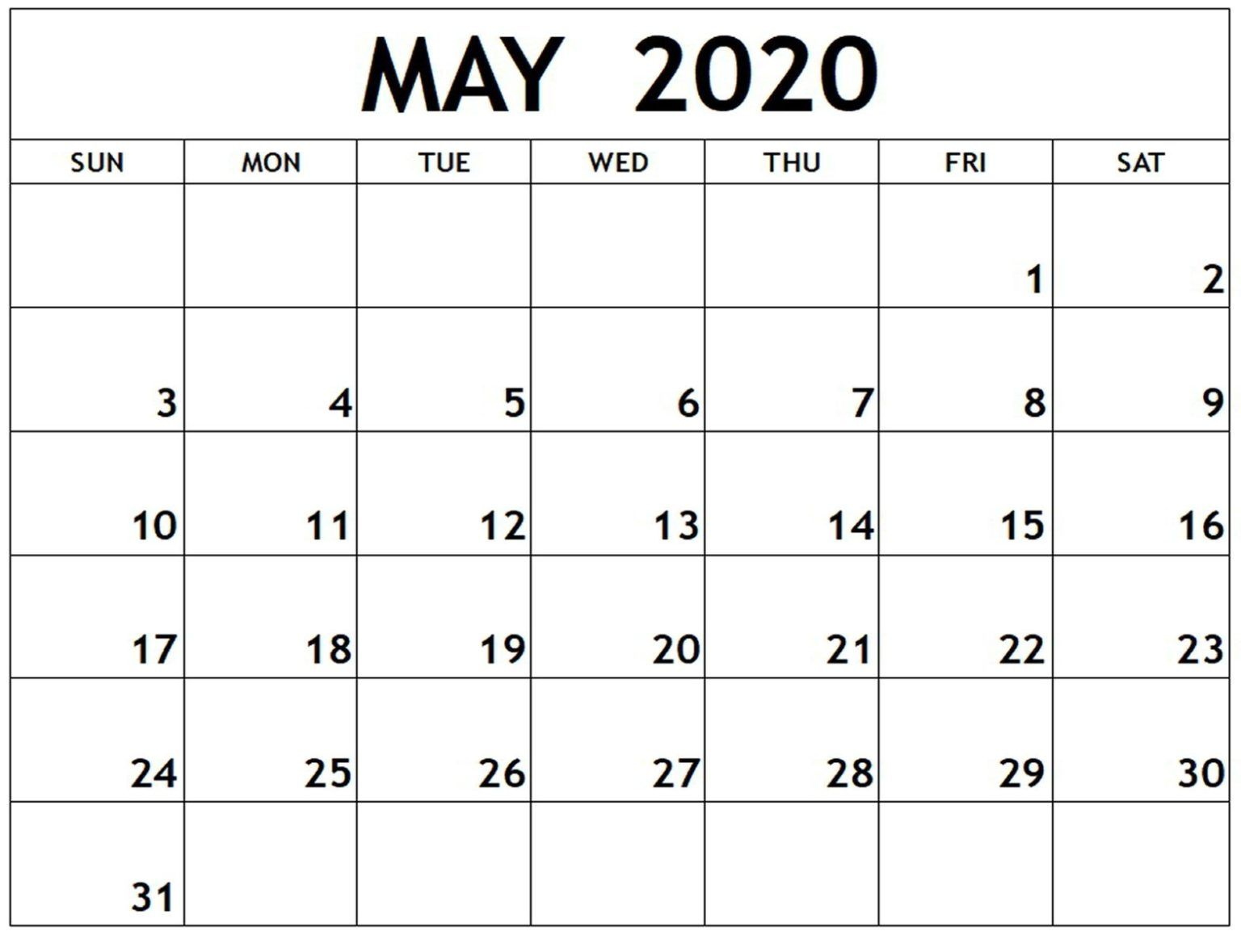 May 2020 Download In 2020 Calendar Printables Printable