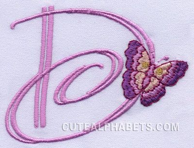 D is for butterfly Delori.