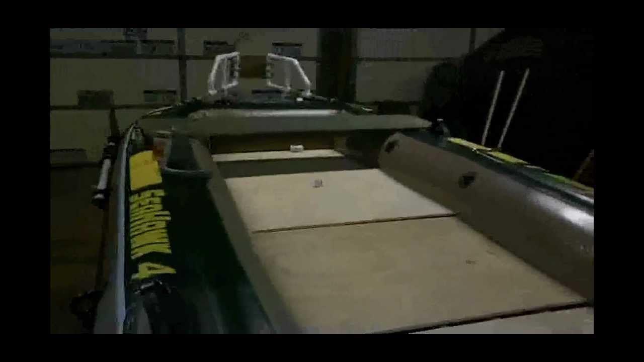 Diy intex seahawk 4 inflatable custom bass boat mod for Seahawk fishing boat