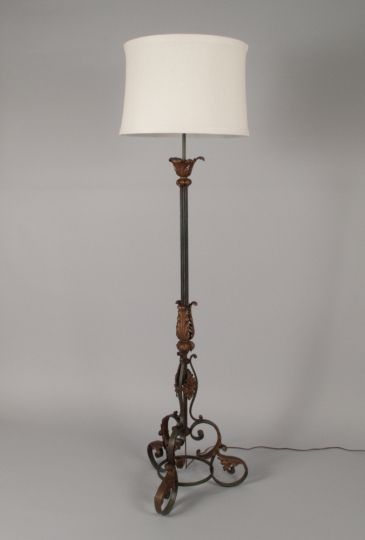 Wrought Iron Floor Lamps Magnificent Neo Gothic Forged Iron Floor Lamp  Lighting  Wrought Or Forged Design Inspiration