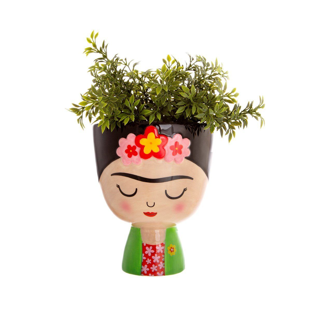Frida Kahlo Planter With Images Planters Indoor Planters Frida Kahlo