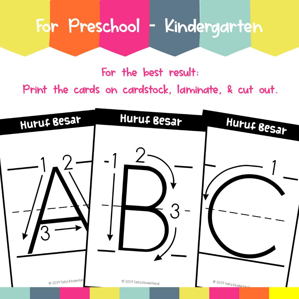 Letter Formation Practice DryErase Cards Printable TeKa