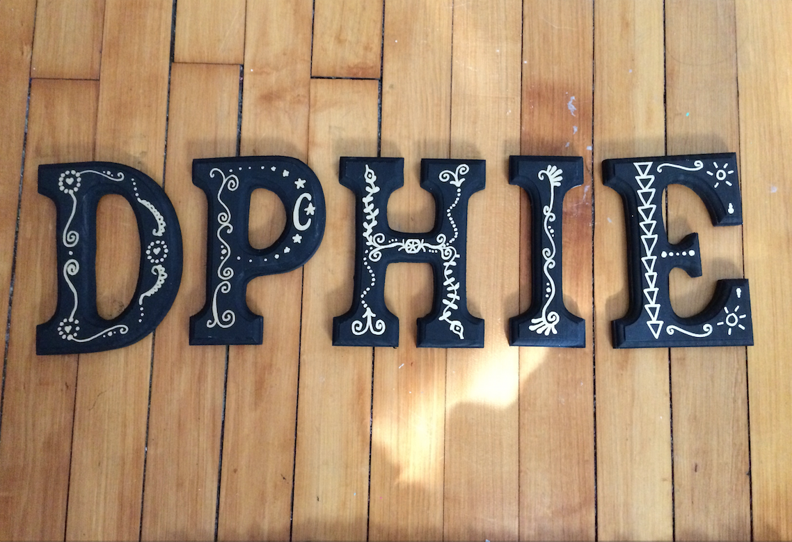 Dphie Letters Made For One Of My Best Friend S Little First Attempt