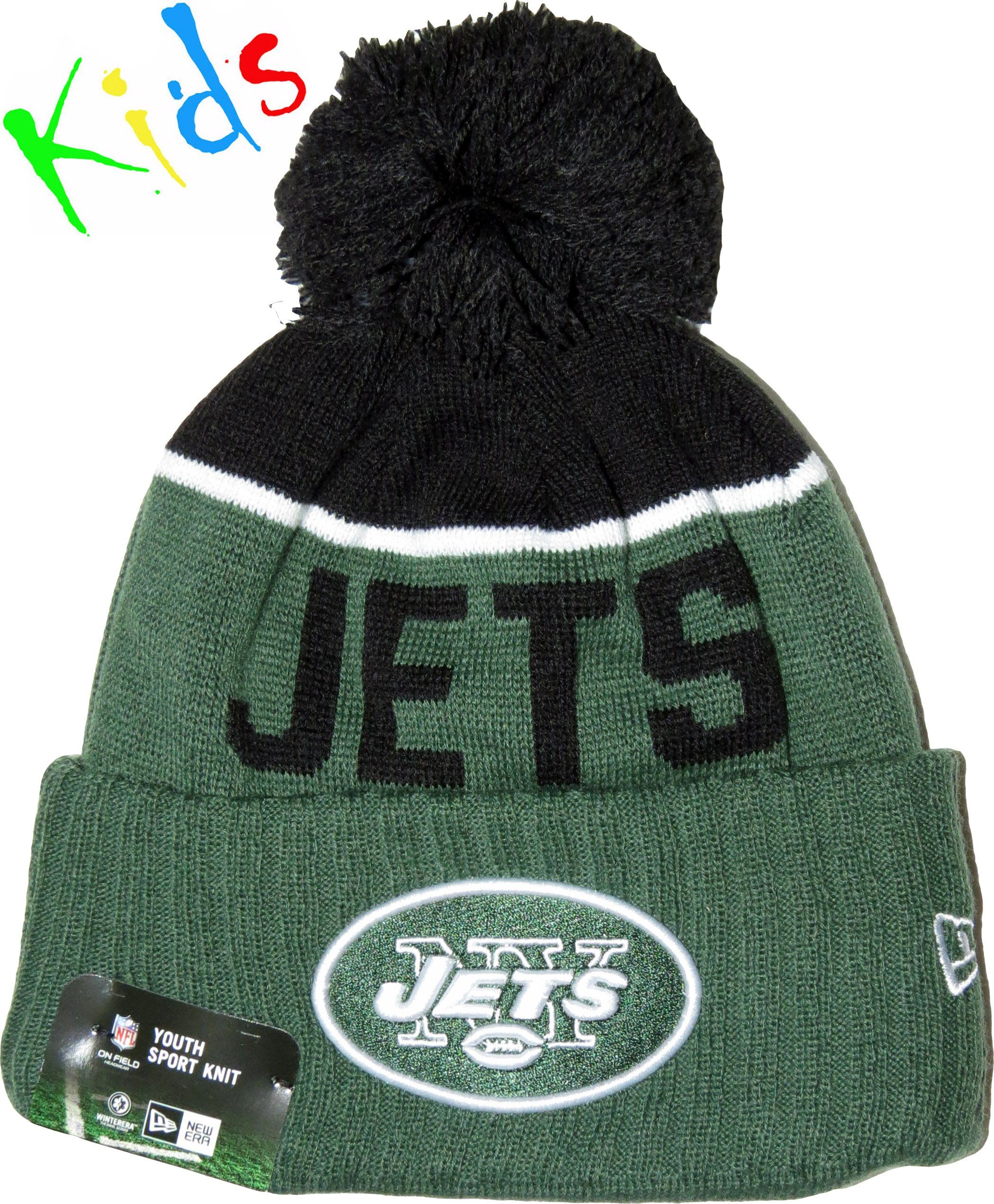 e6cc0858069 New Era Kids NFL Sport Knit Bobble Hat. Green with the New York Jets ...