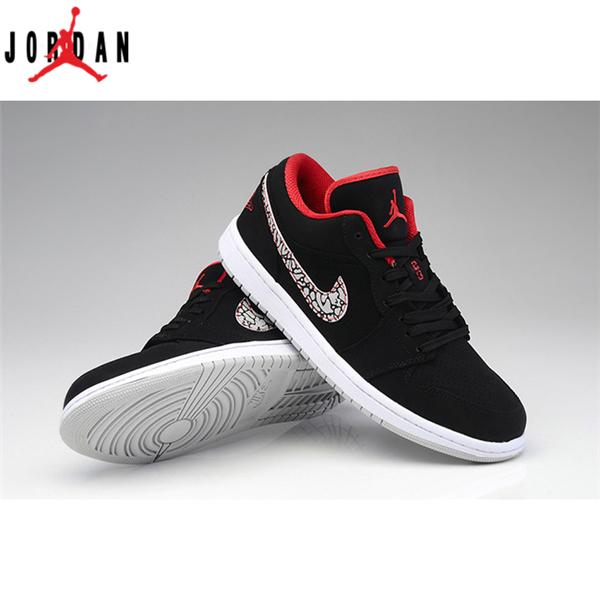 more photos 4b643 9b2b3 Air Jordan 1 Retro Mens Shoes Low Black Red,Jordan-Jordan 1 Shoes Sale